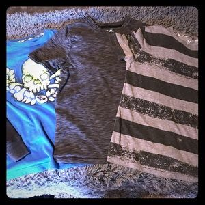 ☠️3pc boys Shaun white & tony hawk shirts size med